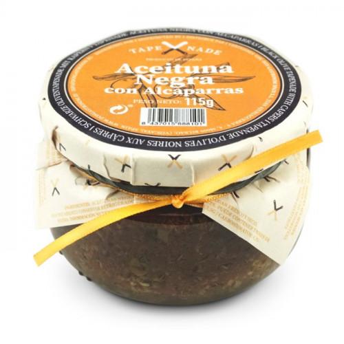 Melno olīvu un kaperu pasta, 115g