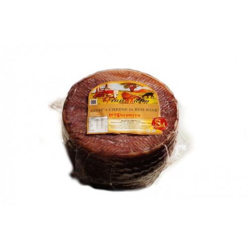 Kazas siers Queso de Cabra al Vino, noturēts vīnā, 200g