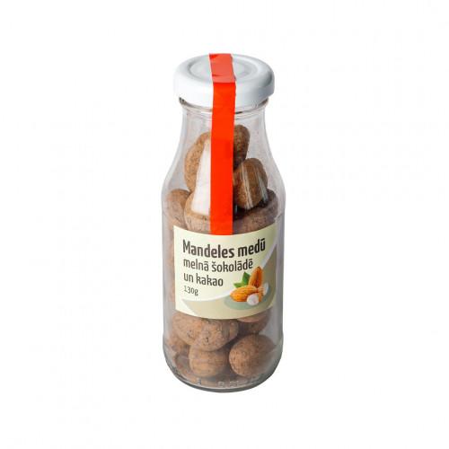 Mandeles medū,melnā šokolādē un kakao, 130g
