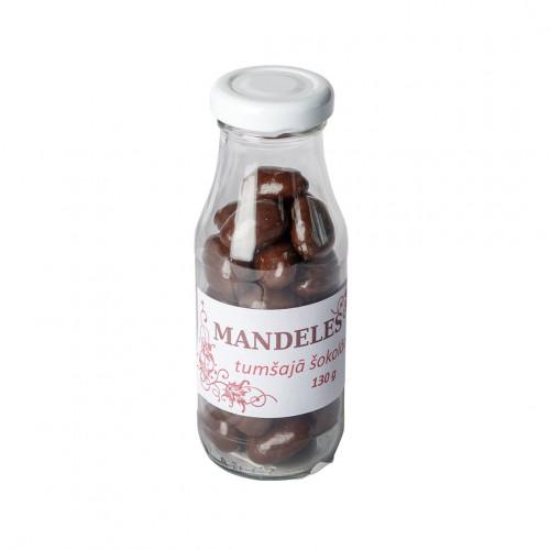 Mandeles tumšajā šokolādē, 130g