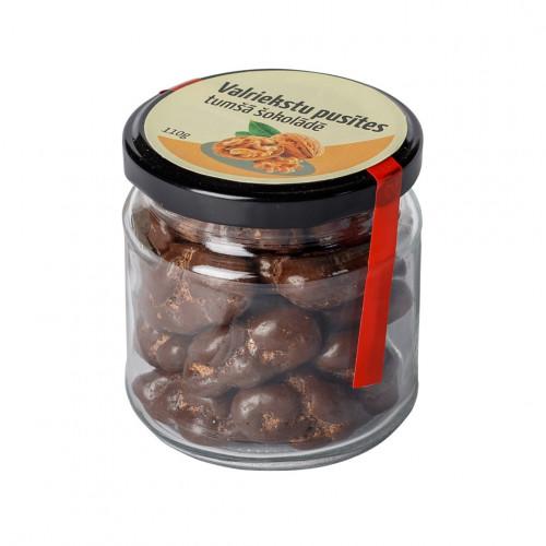 Valriekstu pusītes tumšajā šokolādē, 110g