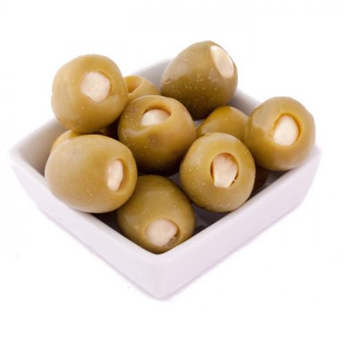 Zaļās olīvas Gordal pildītas ar ķiplokiem, 2.4kg