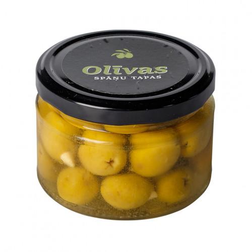 Zaļās olīvas Manzanilla pildītas ar mandelēm, 130g