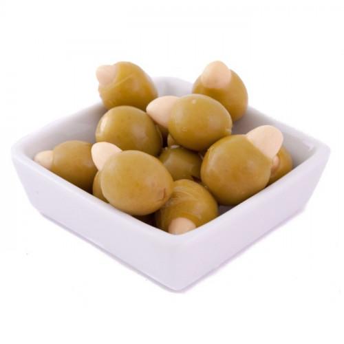 Zaļās olīvas Manzanilla pildītas ar mandelēm, 2.4kg