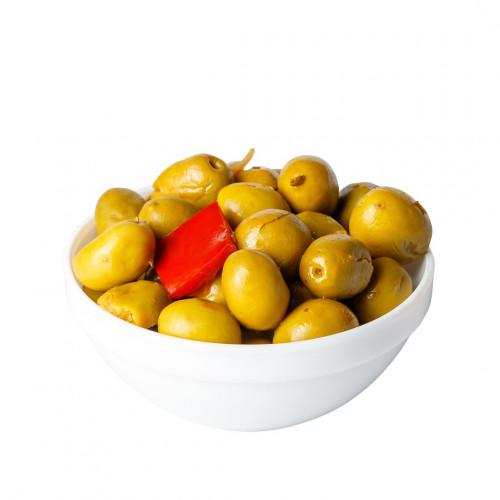 Zaļās olīvas Verdial ar kauliņiem, 2.5kg