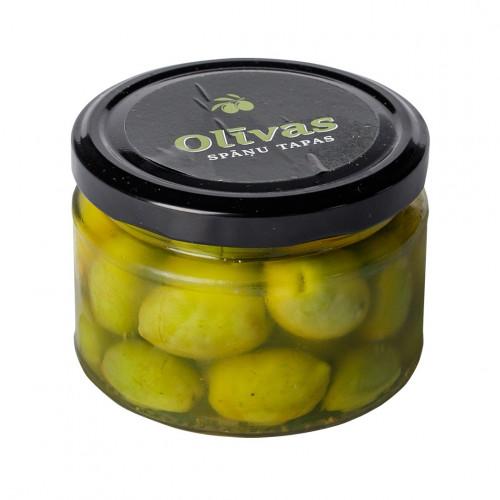 Zaļās olīvas ar kauliņiem un zemu sāls saturu Alinada Yeye, 150g