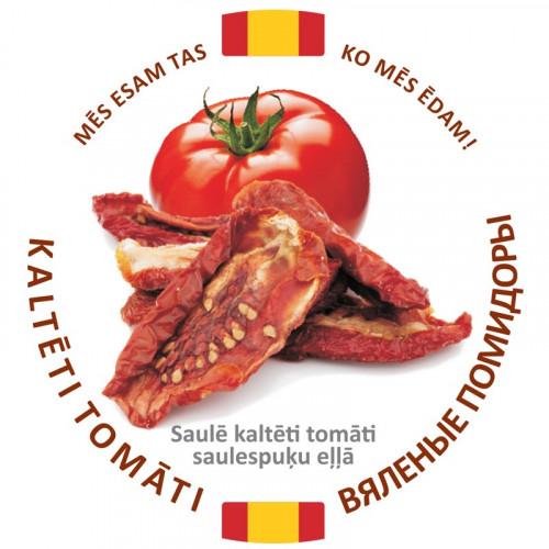 Saulē kaltētie tomāti saulespuķu eļļā, 1.25kg